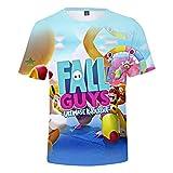 Fall Guys:Ultimate Knockout 3D Tie-Dye Verano Camisetas Unisex Ropa Casual Harajuku Cool manga Corta Top Tee