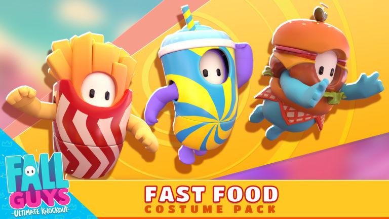 Fall Guys fast-food / comida rápida