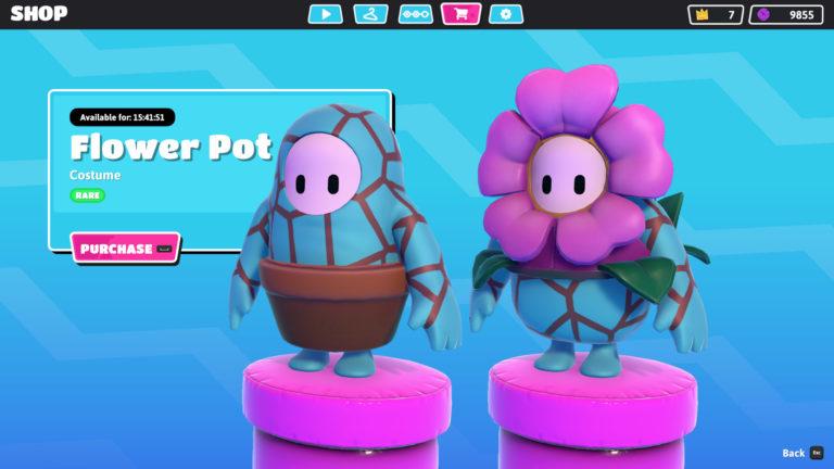 Fall Guys flower pot / maceta + flor